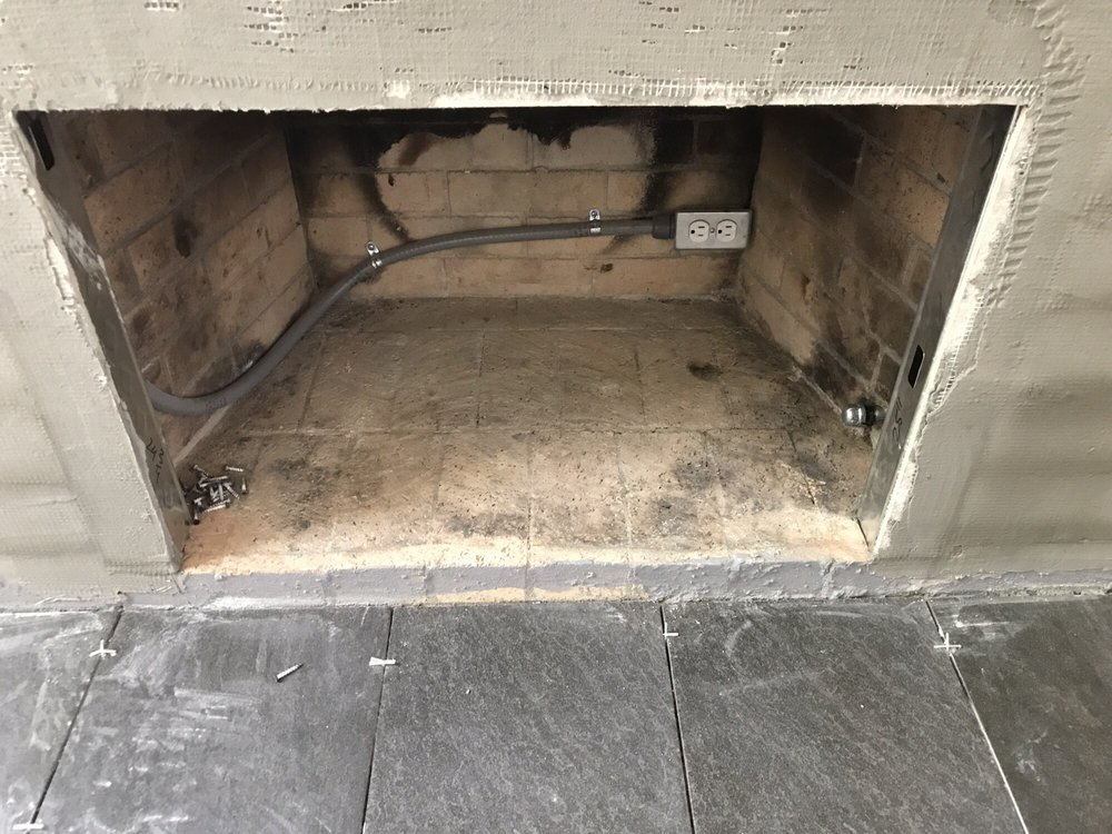 Electrical installed inside the fire pit for the gas insert
